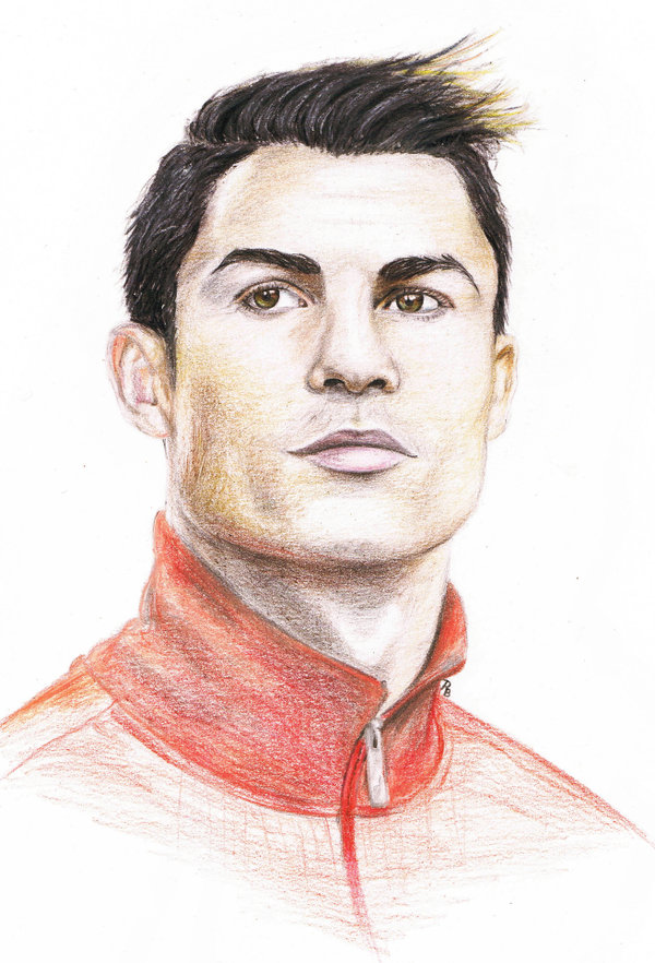 600x882 Cristiano Ronaldo Drawing By Ronniebeetle
