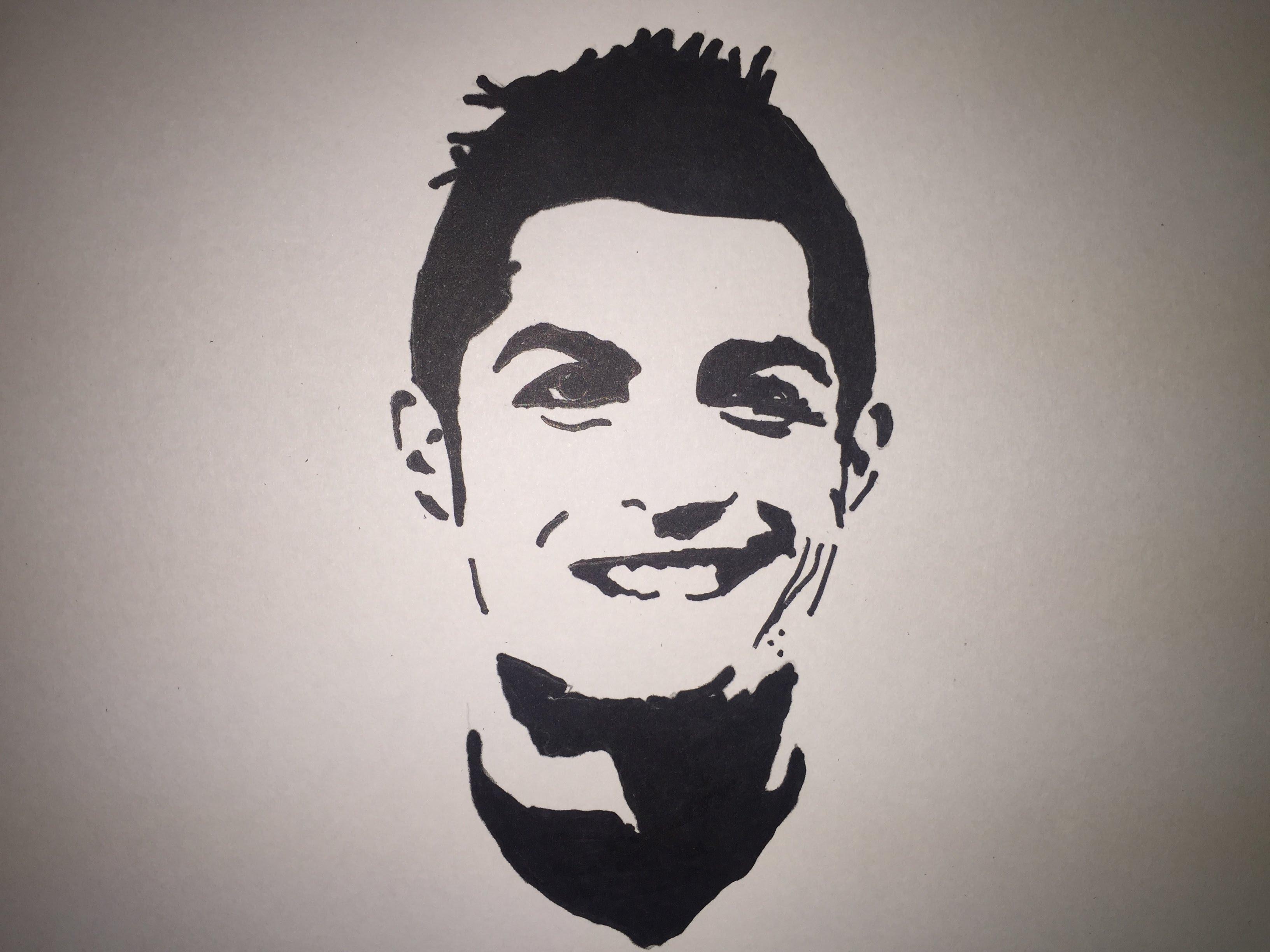 3264x2448 Drawing Cristiano Ronaldo