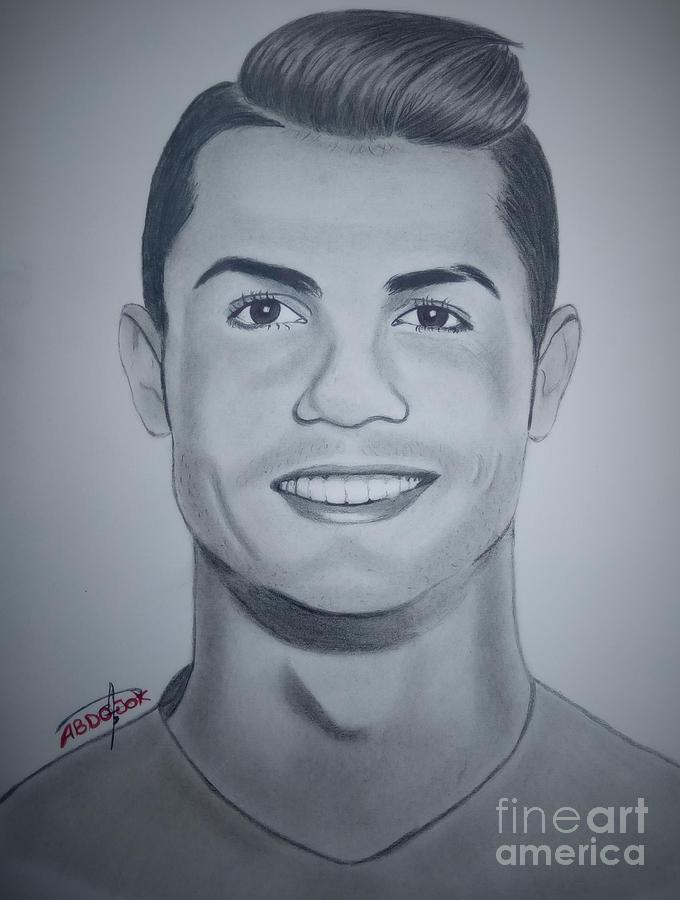 680x900 ronaldo drawing by abdo jouk