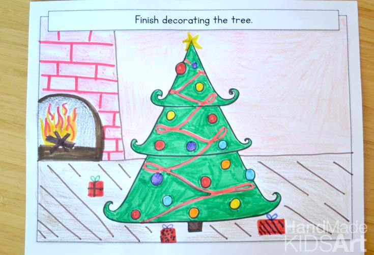 735x500 Creative Christmas Drawing Ideas For Kids