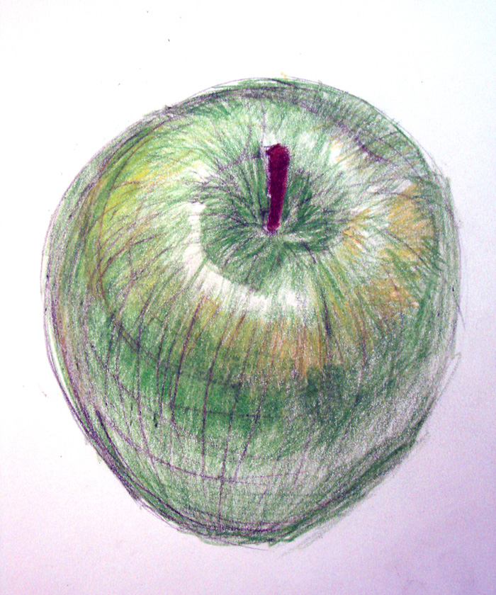 700x840 Cross Contour Apple 001 By Samanthalindholm