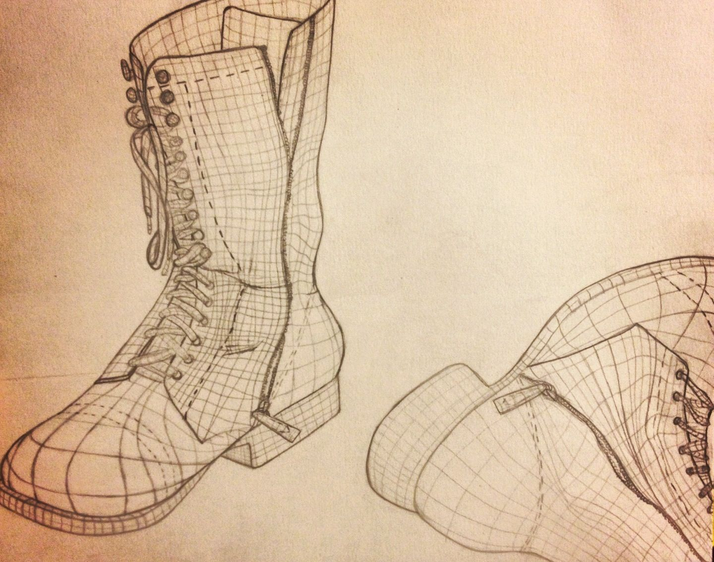 1440x1134 Cross Contour Of My Boots Sketches Contours