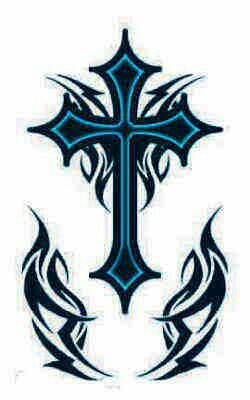 250x400 Blue And Black Cross Drawing Designs Drawing Designs