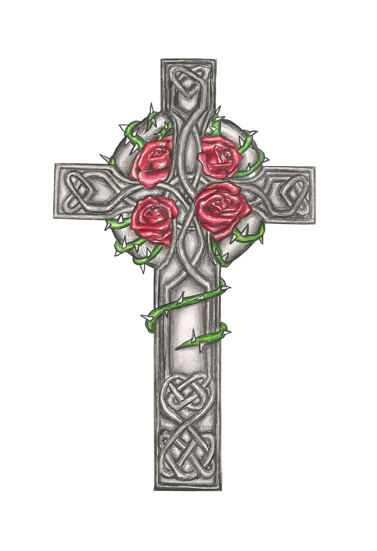 740x1080 Celtic Cross Drawings Celtic Cross Tattoo Design Commision By