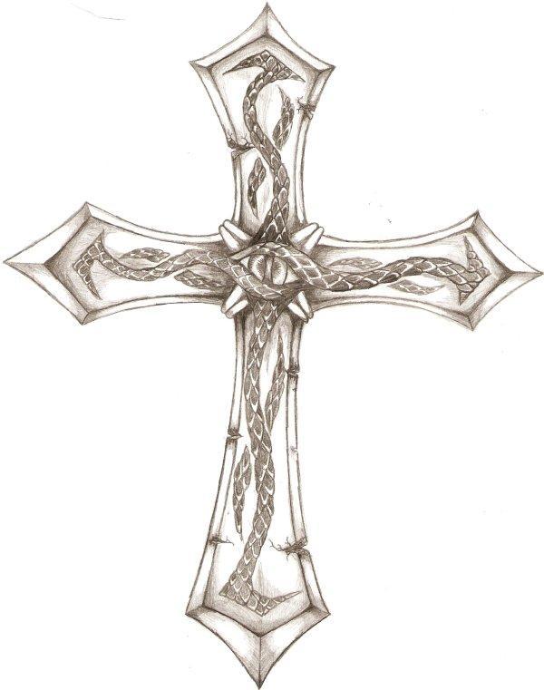 600x761 Crucifix Tattoo Design 1 By Iconoclastic Beleifs