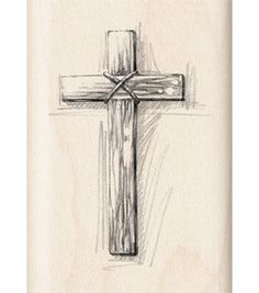 236x267 Wooden Cross Drawing