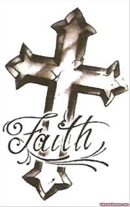 500x792 Faith Cross Tattoo Design Tattoo
