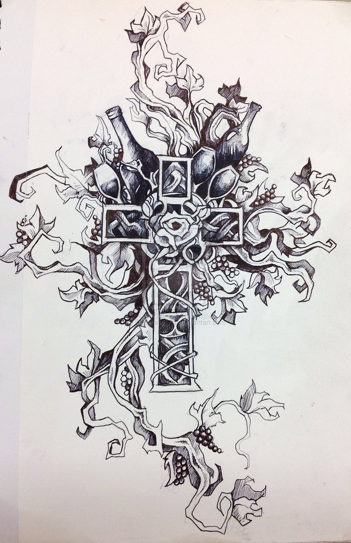 719x1111 Sexy Cross Tattoos Drawings Pictures To Pin