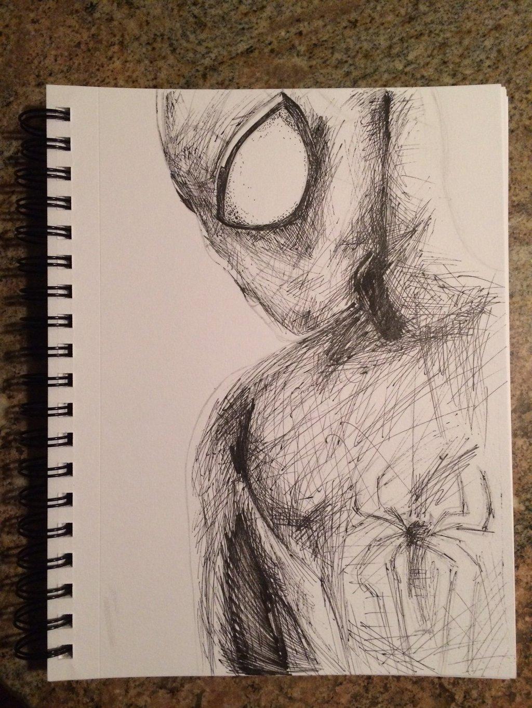 1024x1365 Cross Hatching Drawing Amazing Spider Man Cross Hatching