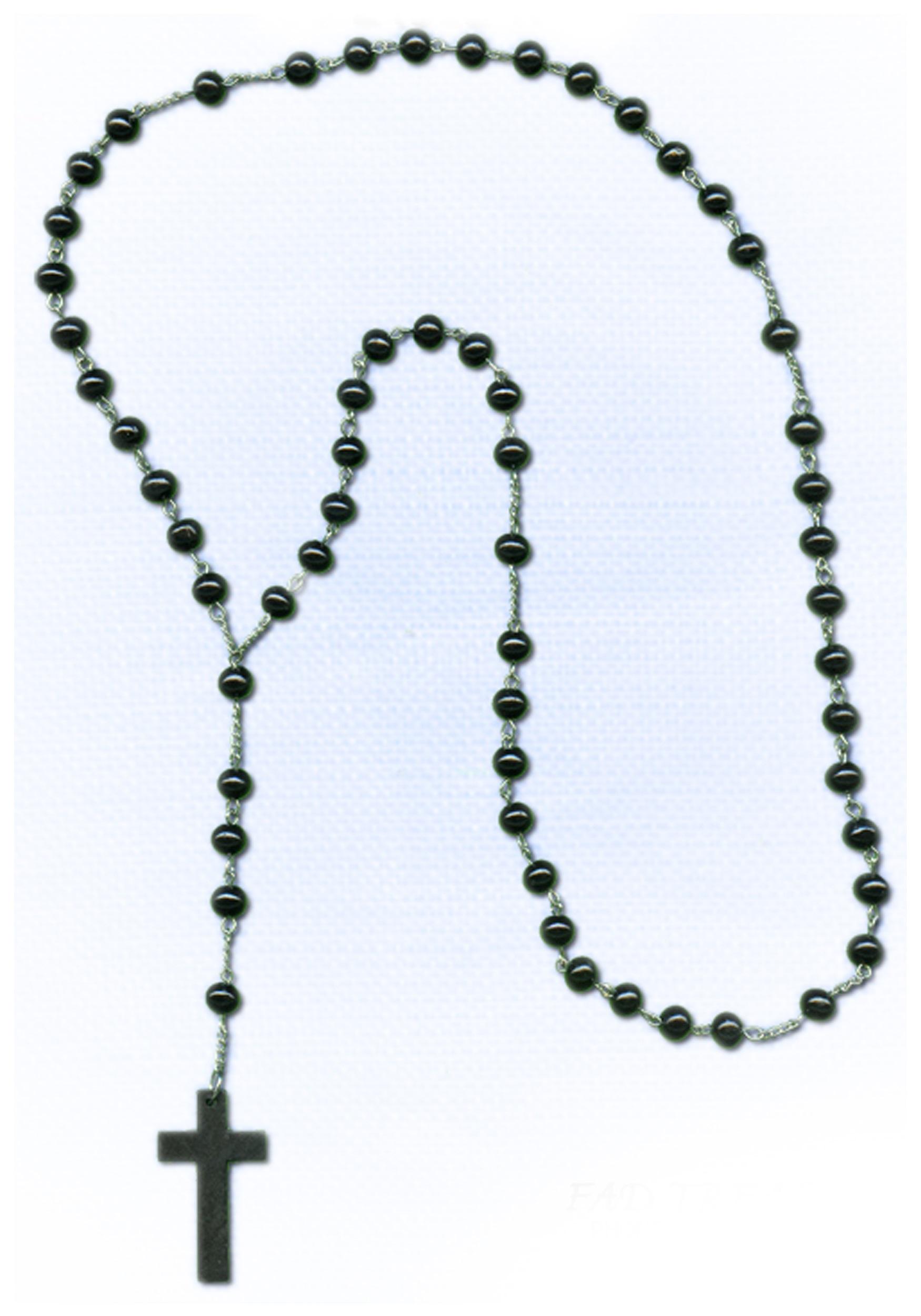1750x2500 Beautiful Black Beaded Cross Necklace Jewellry's Website
