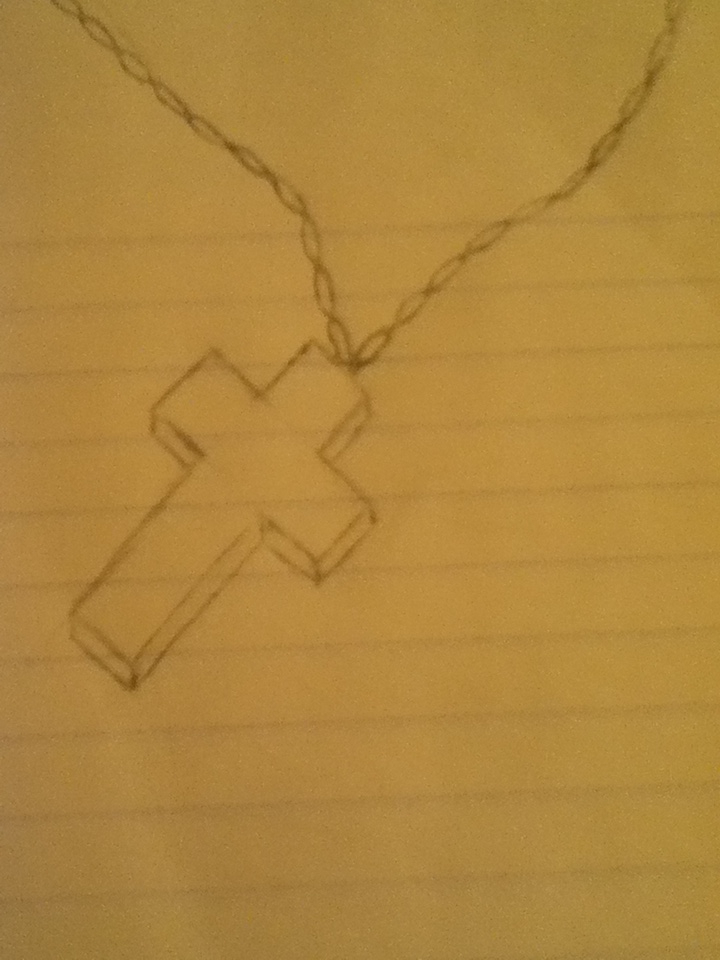 720x960 Cross Necklace Drawing By Jinxxmystic