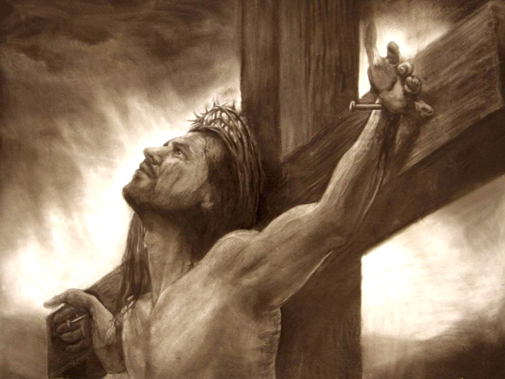 1024x768 Pencil Drawings Of Jesus On The Cross Wallpaper Wallpaper Drafting
