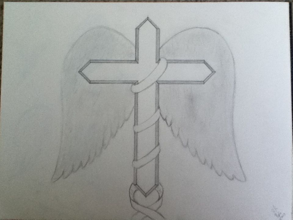 960x720 Pencil Drawing Of A Cross Drawings Tattoos