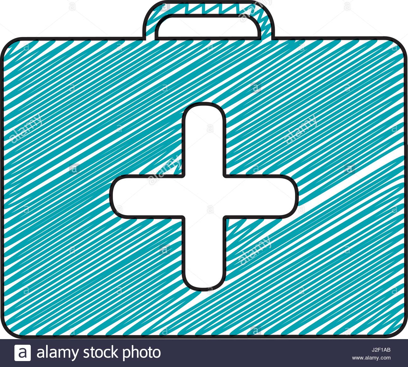 1300x1171 Color Pencil Drawing Of Symbol Of First Aid Kit With Cross Stock