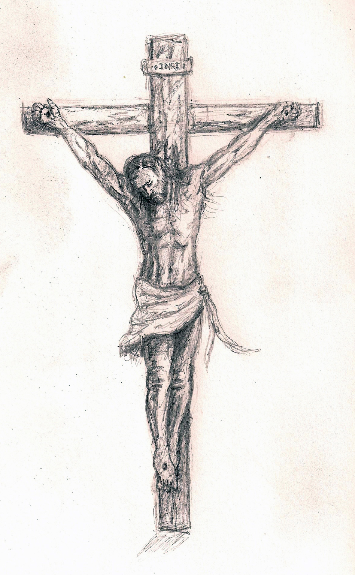 1182x1916 Gallery Jesus On The Cross Sketches,