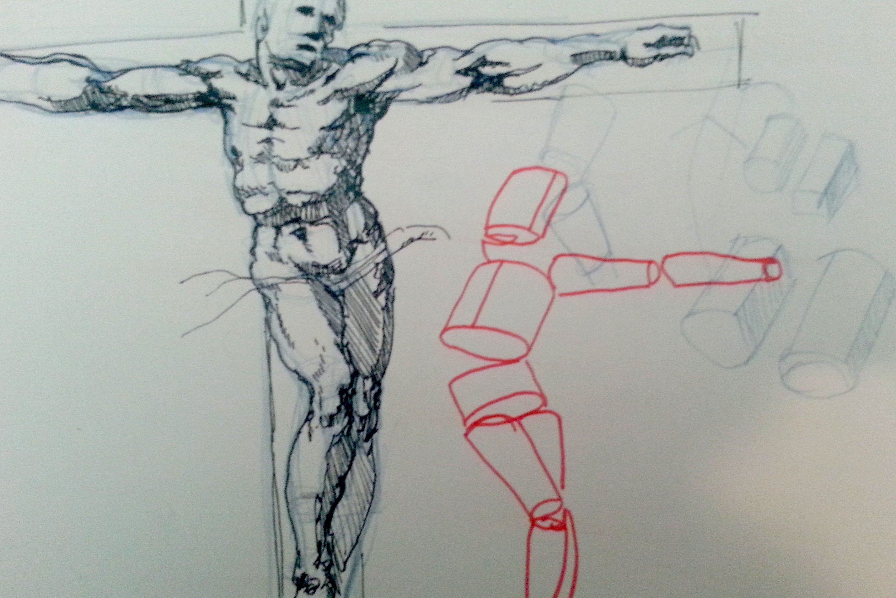 2855x1905 Pen And Ink Drawing Tutorial How To Draw A Figure On A Cross