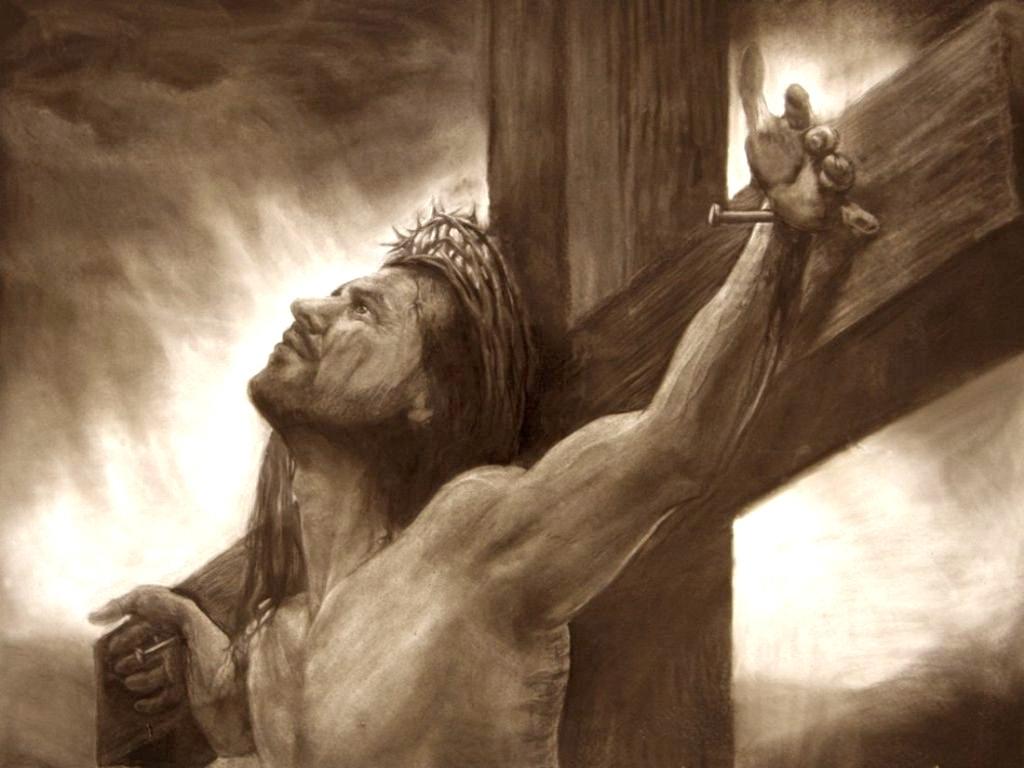 1024x768 Pencil Drawings Of Jesus On The Cross Real Jesus Cross Pencil