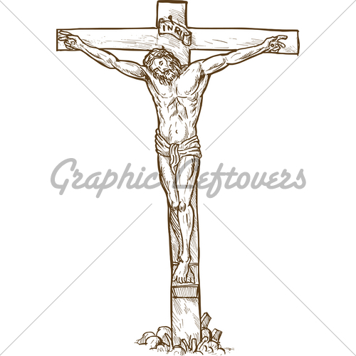 500x500 Pictures Jesus Christ On The Cross Sketch,