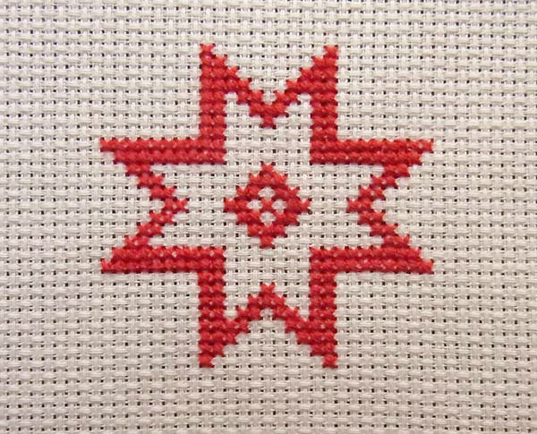 600x485 How To Make A Quick And Simple Cross Stitch Christmas Card