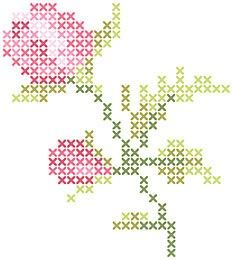 232x260 Image Result For Free Rose Bud Cross Stitch Pattern Drawing