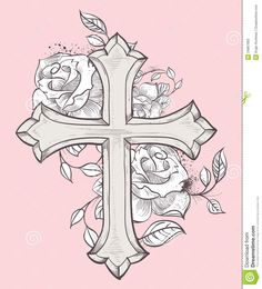 236x260 Cross With Wings Tattoo Design By