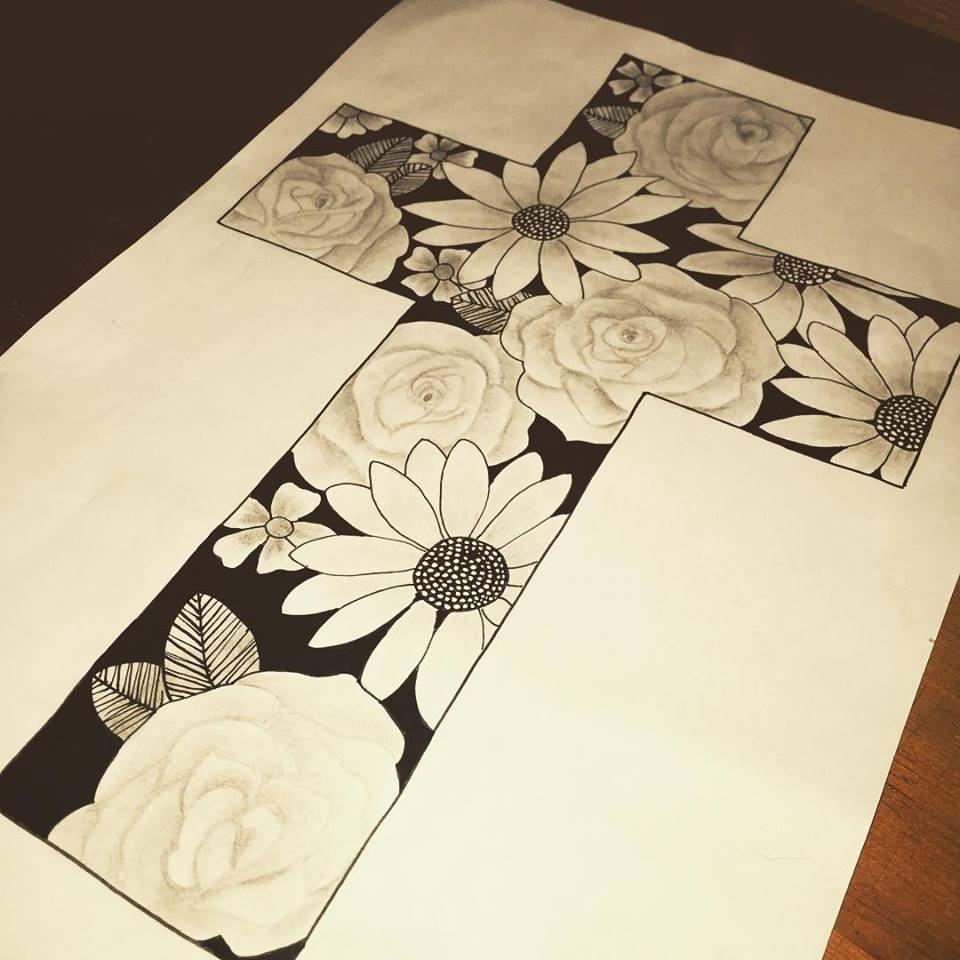 960x960 Flowers Inside A Cross Tattoo Ideas Tattoo