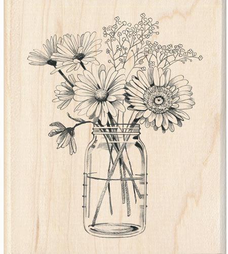 450x502 Inkadinkado Floral Mason Jar