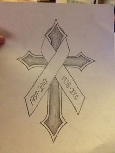 236x314 Fill In The Color Of The Ribbon Tattoos The Ribbon
