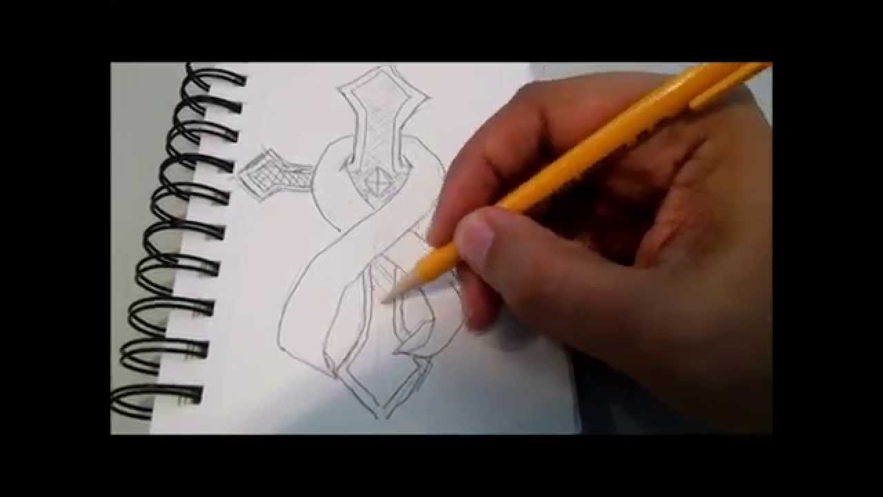 1280x720 How To Draw A Cross And Ribbon (Cancer Survivors)