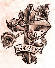 236x291 Drawings Of Crosses And Roses Drawings Of Crosses With Ribbons