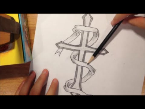 480x360 How To Draw A Cross With A Ribbon
