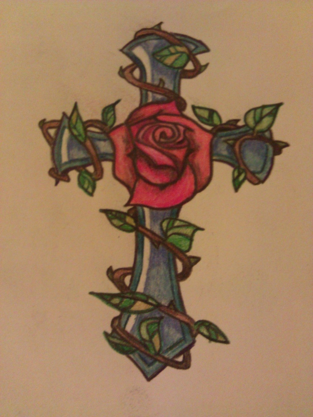 1024x1365 Cross Tattoos With Roses 1000 Ideas About Cross Drawing