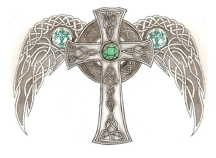 720x529 Celtic Cross With Wings Designs 93 Best Ink Images On Ideas