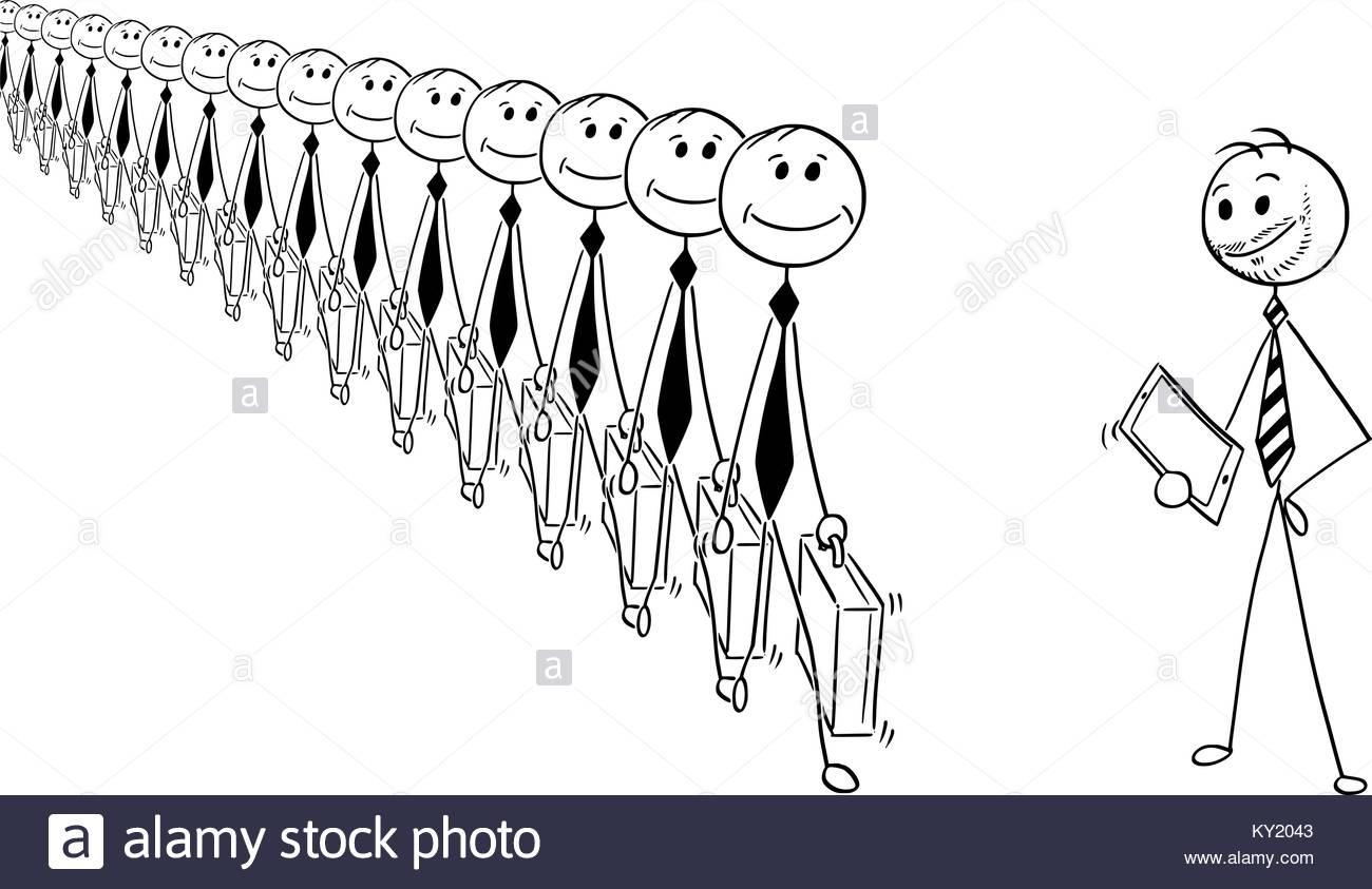 1300x843 Cartoon Stick Man Drawing Conceptual Illustration Crowd