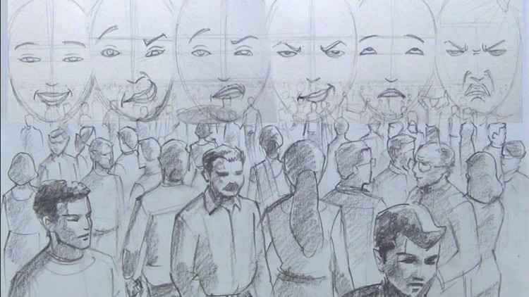 750x422 Compose And Draw Large Crowd Scenes Amp Facial Expressions Udemy