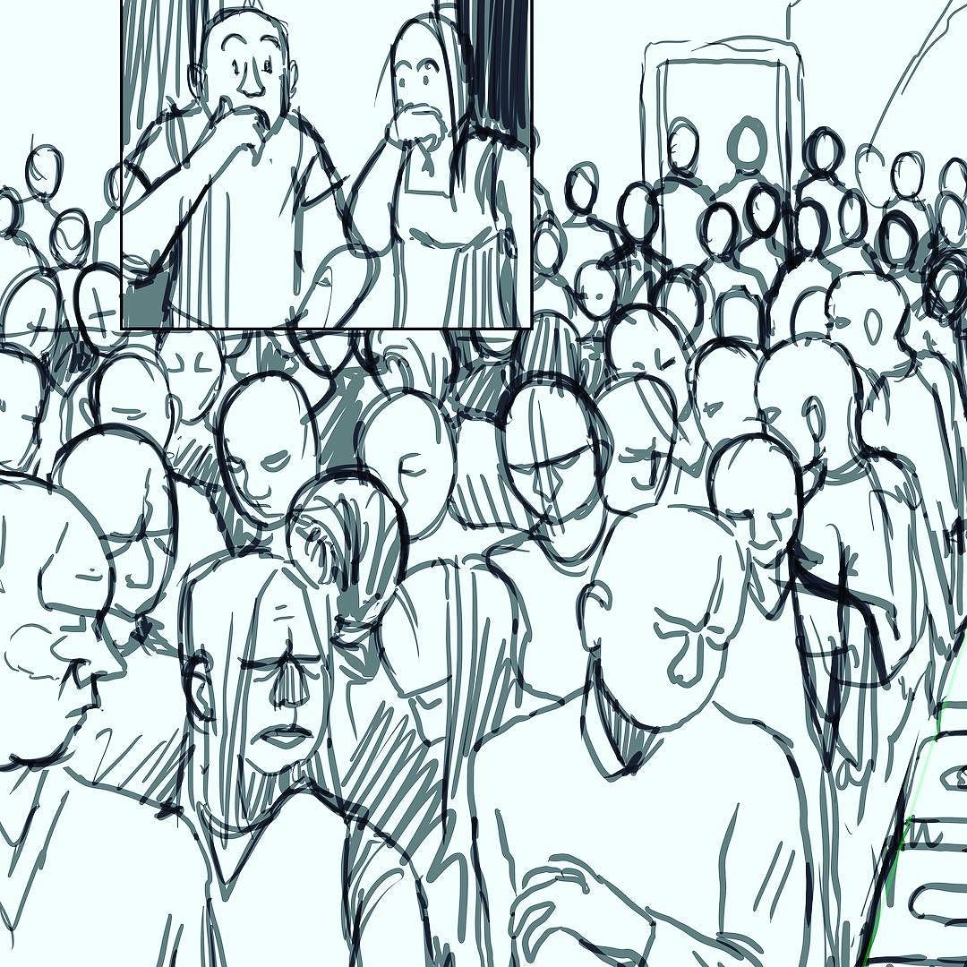 1080x1080 Drawing Crowds Is Really Out Of My Comfort Zone. I Always Try