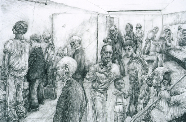 600x396 Crowd Drawing One Time Press