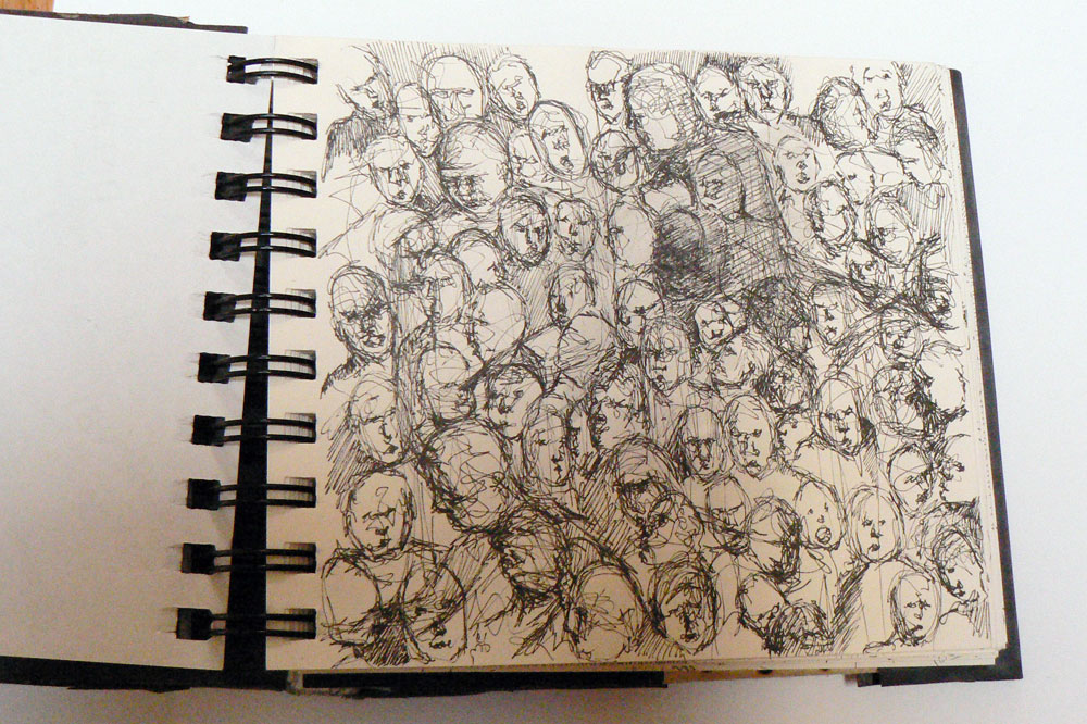 1000x666 Crowd Drawings Art By Carolynne Coulson