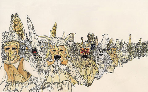 480x300 Drawings Of Crowds Series By Jess Worby