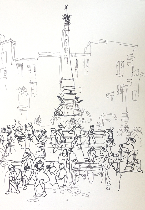 551x800 Impressions Of Italy The Crowds! Sketch Away Travels With My