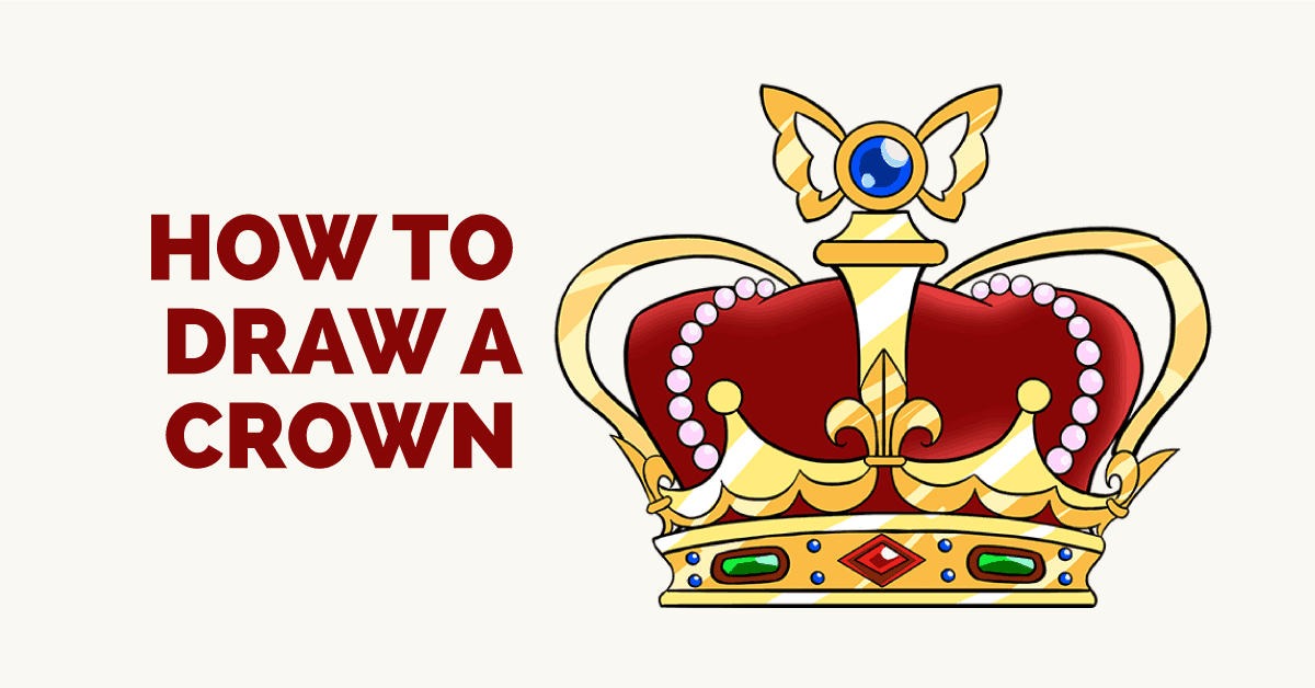 1200x628 How To Draw A Crown In A Few Easy Steps Easy Drawing Guides