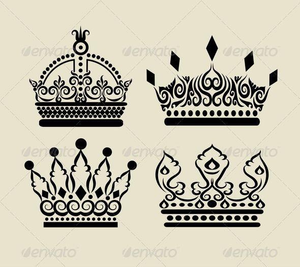 590x526 Crown Decorations Symbol Logo, Sticker Design And Change Colour