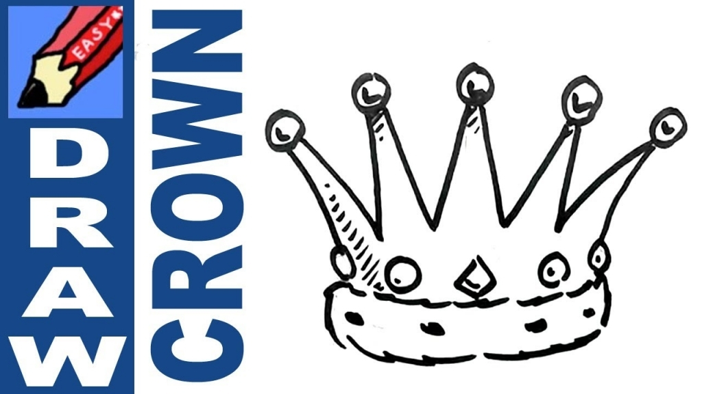 1024x576 How To Draw A Crown How To Draw A Crown Real Easy Spoken Tutorial