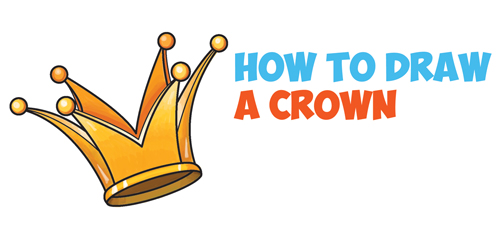 500x228 How To Draw A Crown