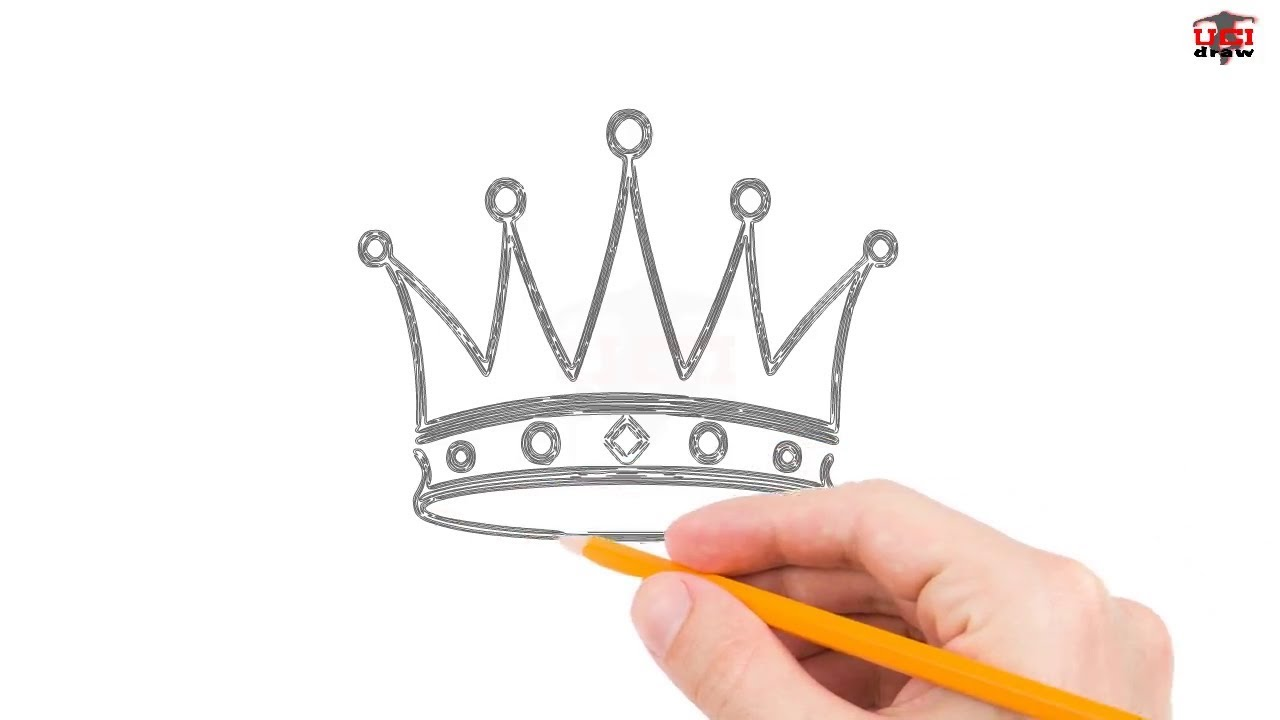 1280x720 How To Draw A Crown Step By Step Easy For Beginnerskids Simple