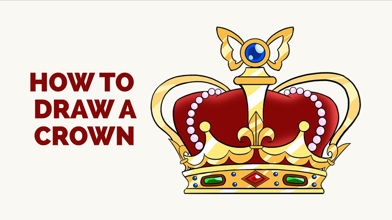 1280x720 How To Draw A Crown In A Few Easy Steps Drawing Tutorial For Kids