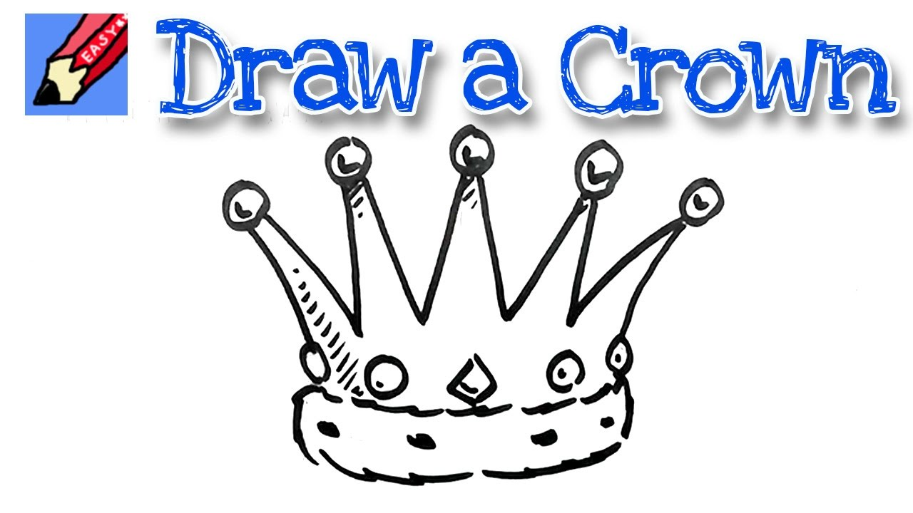 1280x720 How To Draw A Crown Real Easy