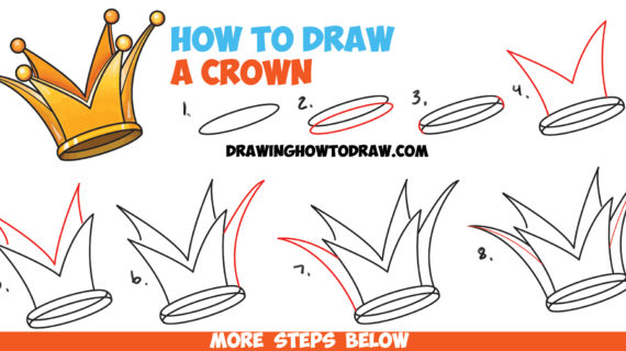 570x320 Simple Drawing Of A Crown How To Draw A Crown
