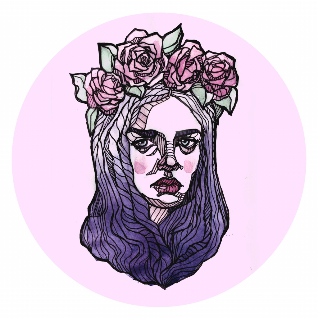 1024x1024 Crown Drawing Tumblr Tumblr With Flower Crown Drawings Flower