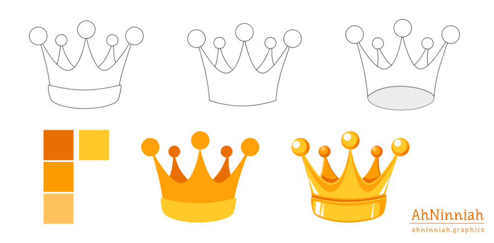 1000x491 Drawing A Vector Crown Inkscape Tutorials Blog